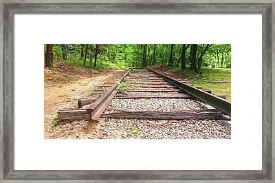 Railroad Tracks To Neverland Framed Print by Patricia Awapara