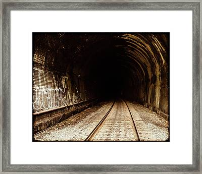 Railroad Tunnel Framed Print by Eclectic Art Photos