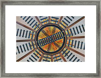 Railroad Turntable Abstract Framed Print by Stuart Litoff