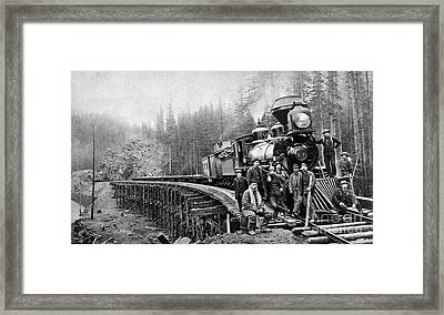 Railroad Workers, C1880s Framed Print