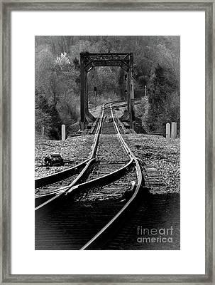 Rails Framed Print by Douglas Stucky