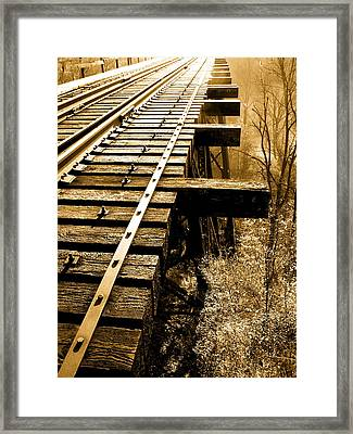 Rails Of Olde  Framed Print by Adrienne Talbot