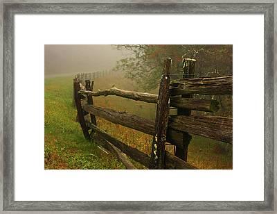 Rails Of Time Framed Print