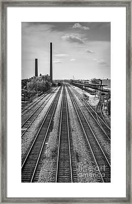 Rails Through Birmingham Framed Print