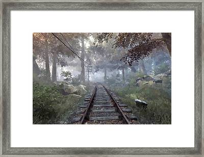 Rails To A Forgotten Place Framed Print