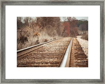 Rails Framed Print