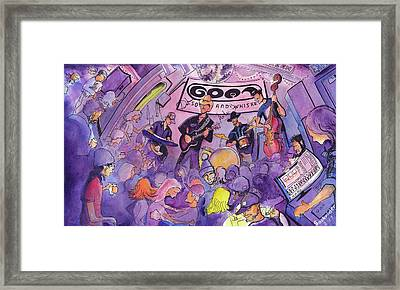 Railbenders At The Goat Soup And Whiskey Framed Print by David Sockrider