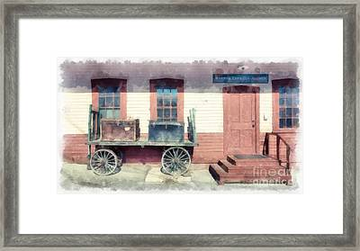 Railway Agency Express Framed Print by Edward Fielding