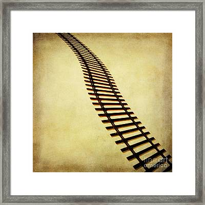 Railway Framed Print by Bernard Jaubert