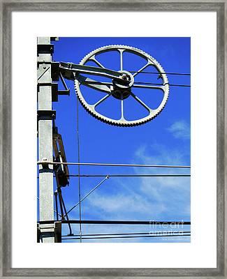 Railway Catenary Framed Print