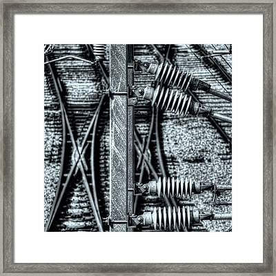 Framed Print featuring the photograph Railway Detail by Wayne Sherriff