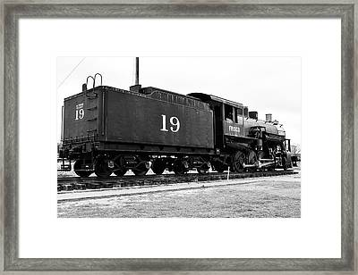 Railway Engine In Frisco Framed Print