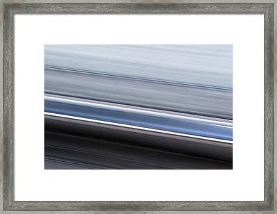 Framed Print featuring the photograph Railway Lines by John Williams