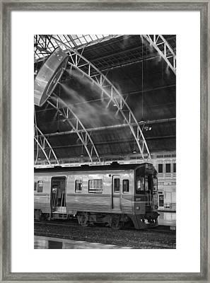 Railway Station In The Tropics Framed Print by Georgia Fowler