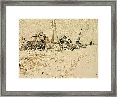 Railway Storage Yard, 1888 Framed Print