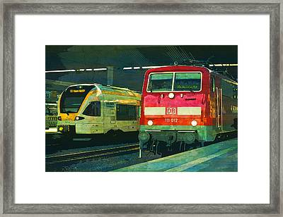 Railway Train S Bahn Rail S Bahn  Framed Print by PixBreak Art