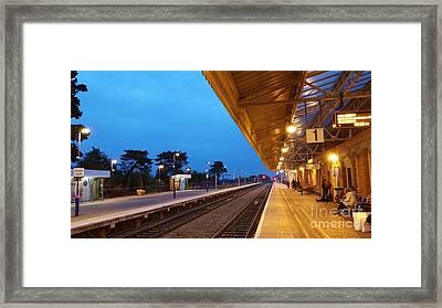 Railway Vanishing Point Framed Print