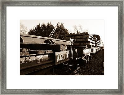 Railway Wagons Framed Print