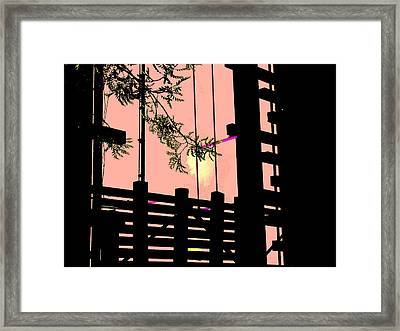 Railways Drama Framed Print by Teodoro De La Santa