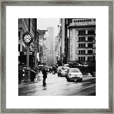 Rain - New York City Framed Print