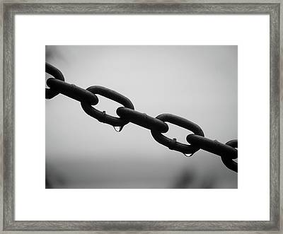 Rain And Chains Framed Print