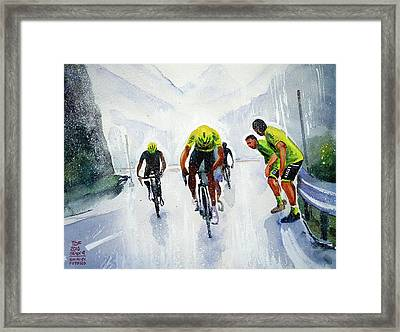 Rain And Hail At The Top Framed Print by Shirley Peters