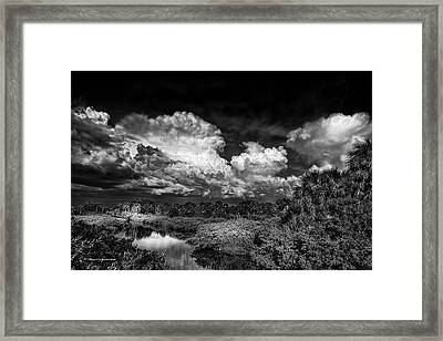 Rain And Lighting Framed Print