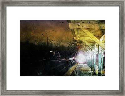 Rain And Rail Framed Print