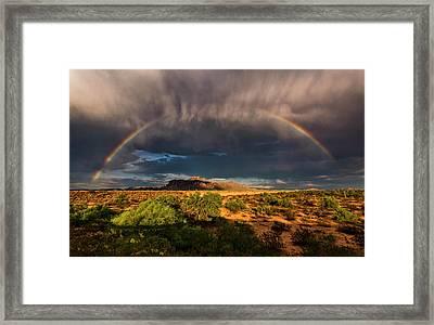 Rain And Rainbows  Framed Print