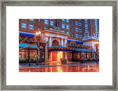 Rain And Reflection-3 Framed Print