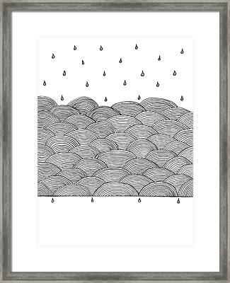 Rain And Sea Framed Print