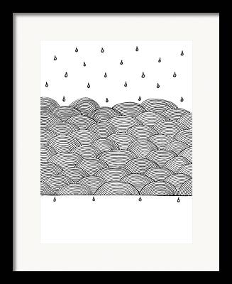 Abstract Rain Drawings Framed Prints