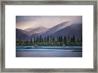 Rain And Snow Squalls Race Framed Print by David Shaw
