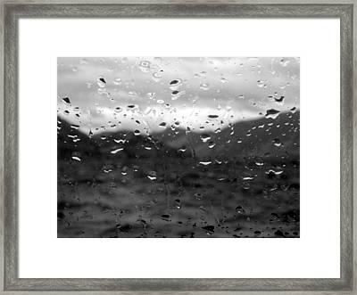 Rain And Wind Framed Print