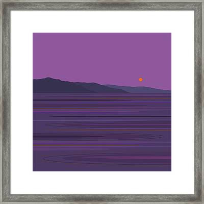 Rain At The Lake Framed Print by Val Arie