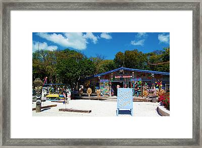 Rain Barrel Artisan Village Framed Print by Tammy Chesney