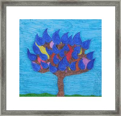 Rain Beauty Tree Framed Print