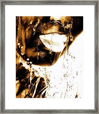 Rain Bronze Framed Print by Prar Kulasekara