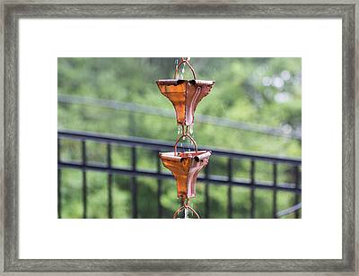 Rain Chains Framed Print