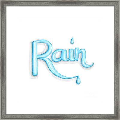 Rain Framed Print by Cindy Garber Iverson
