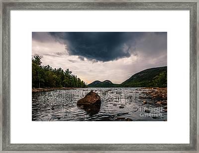 Rain Cloud Over Jordan Pond Framed Print