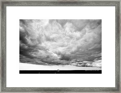 Rain Clouds And Weather Front Move Over Ring Road Hringvegur Across The Skeidararsandur Sand Framed Print