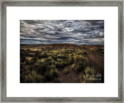 Rain Coming  ... Framed Print