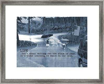 Rain Dance Quote Framed Print