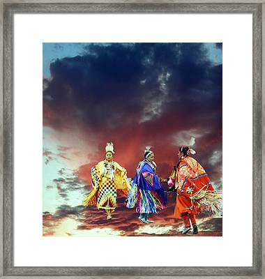 Rain Dance Two Framed Print by Irma BACKELANT GALLERIES