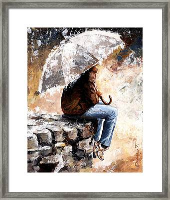 Rain Day Framed Print by Emerico Imre Toth