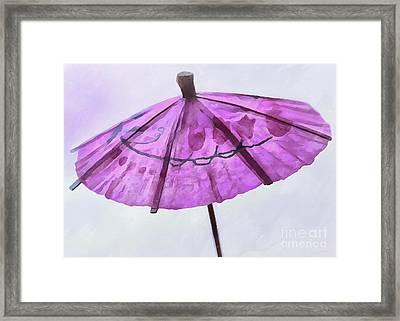 Rain Down On Me Framed Print by Krissy Katsimbras