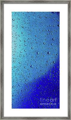 Rain Drops 4 Phone Case Framed Print by Edward Fielding