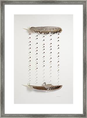 Rain Duck Framed Print by Chris Maynard