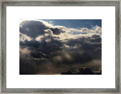Framed Print featuring the photograph Rain by Erica Hanel